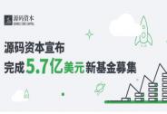 投资家网快讯|源码资本宣布完成5.7亿美元新基金募集